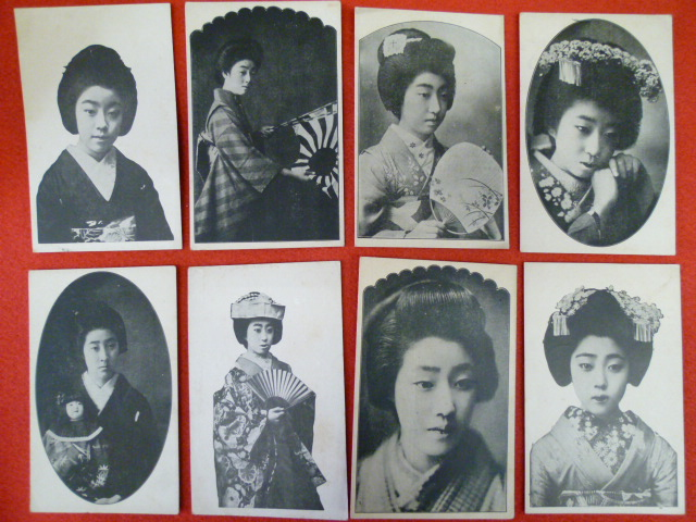 戦前絵葉書 着物姿の女性 入荷しました!の画像